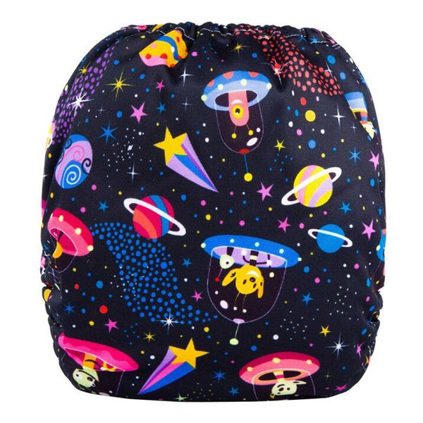 Space Aliens Cloth Nappy Back