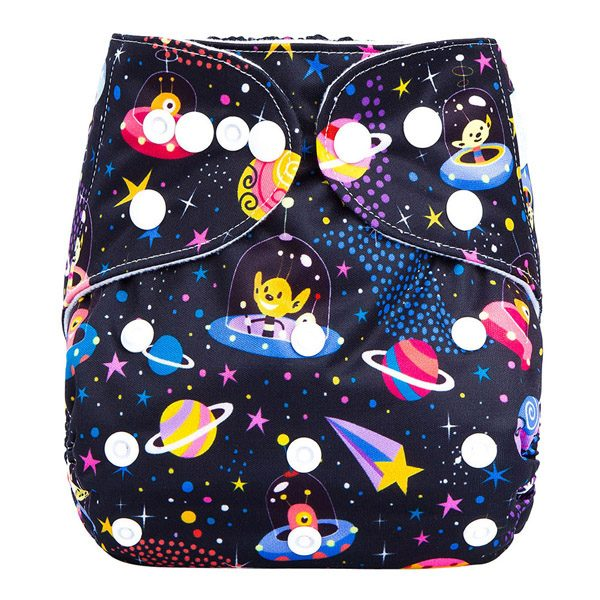 Space Aliens Cloth Nappy Front