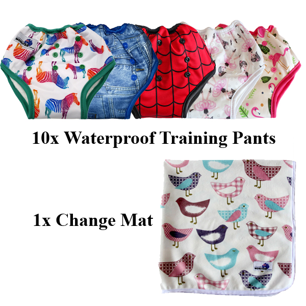 Waterproof Training Pants 10 pack