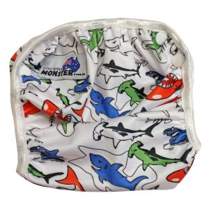 Colourful Sharks Swim Nappy