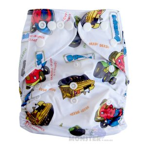 Diggers Tractors Modern Cloth Nappies