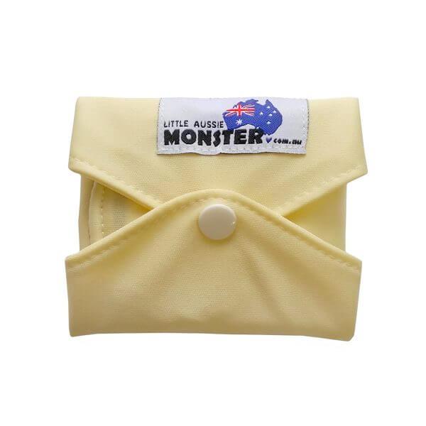 Heavy Plain Yellow Sanitary Pad Folded