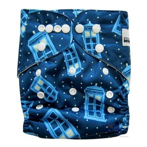 Police Box Tardis Modern Cloth Nappies