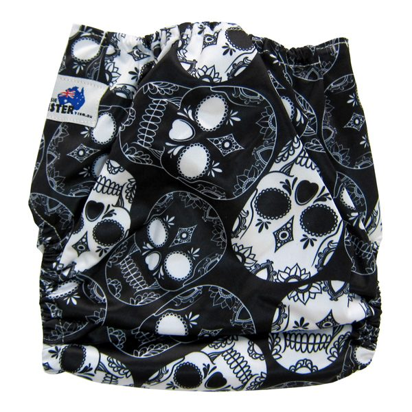 Black White Skulls Baby Cloth Nappy