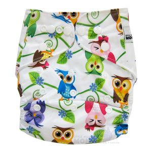 Colourful Owls Modern Cloth Nappies
