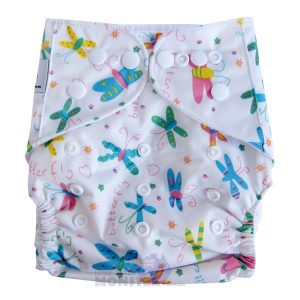 White Butterflies Modern Cloth Nappies