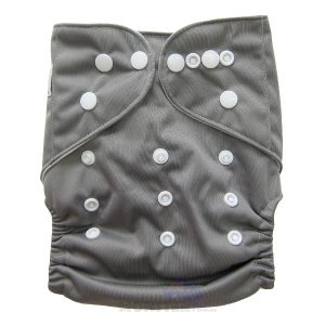 Grey Solid Colour Modern Cloth Nappies