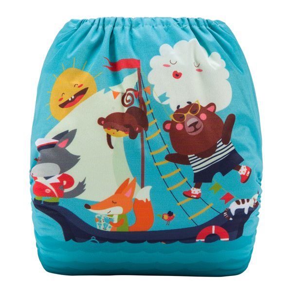 Cloth Diaper Animals Sailing