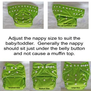 Cloth Nappy Rise Snap Adjustment