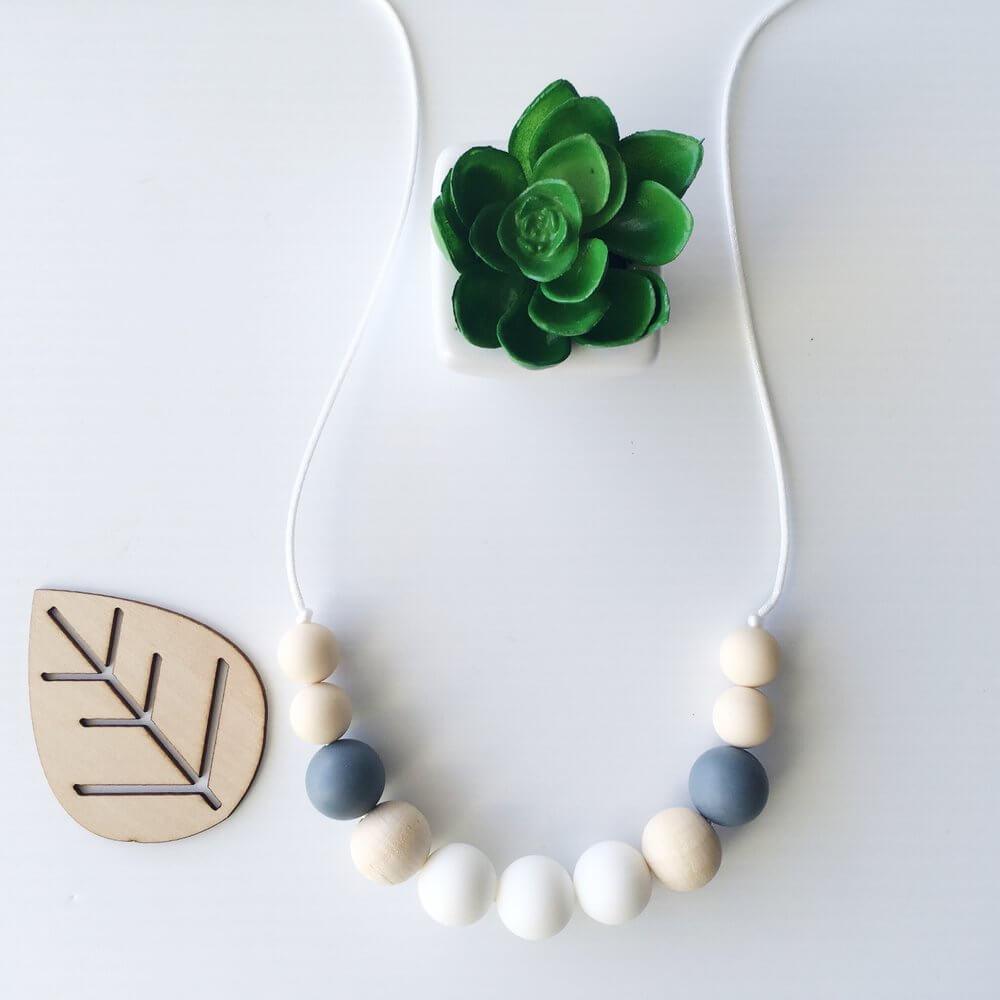 Silicone Necklace Havana White