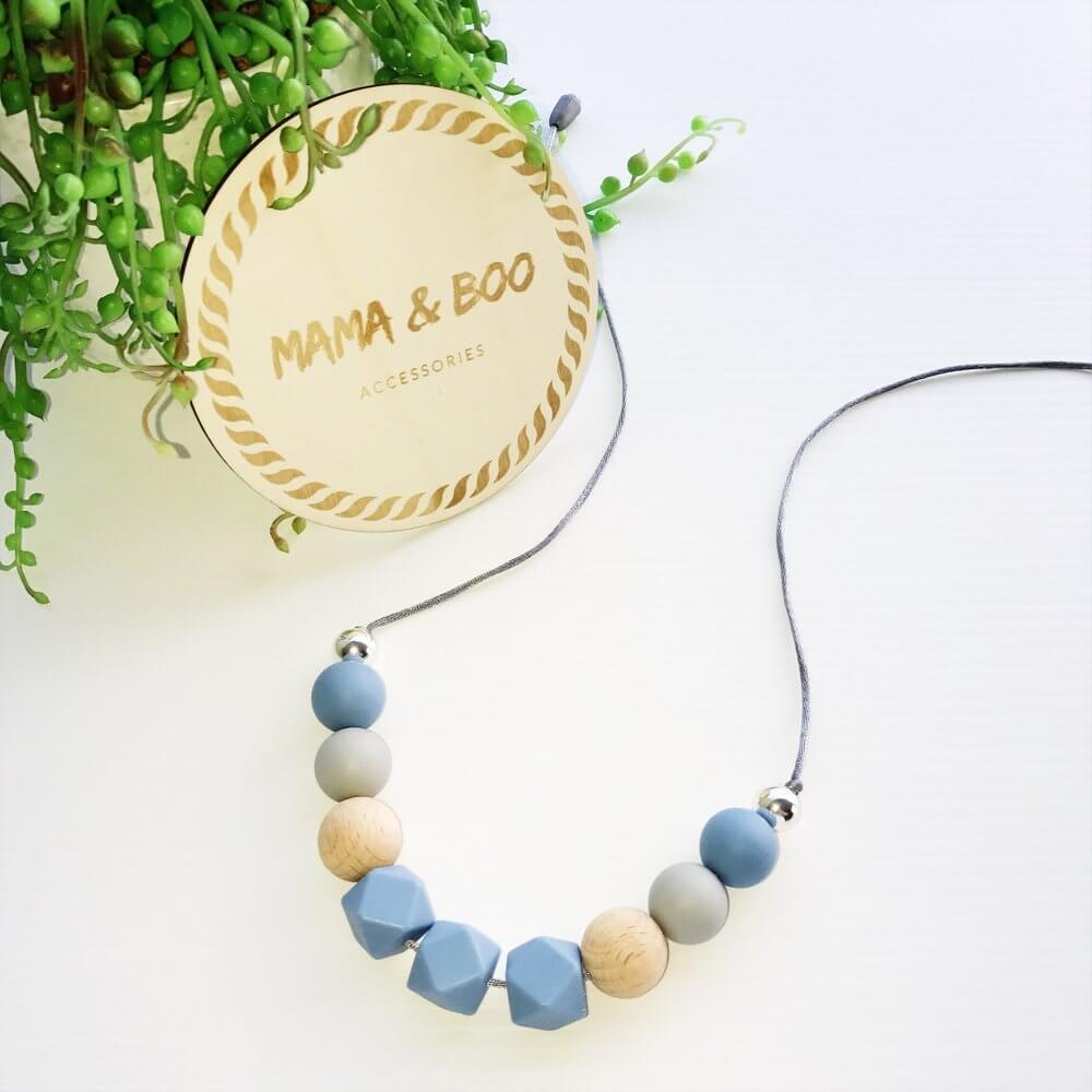 Silicone Necklace Trapani Blue