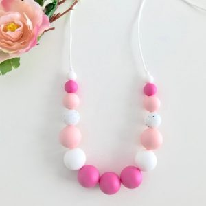Silicone Necklace Trinity Pink