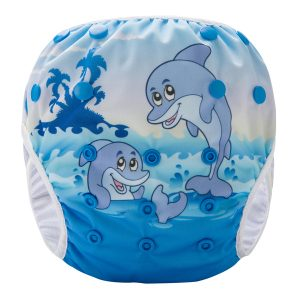 Happy Dolphins Reusable Swim Nappy