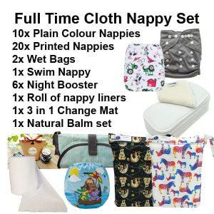 Full Time Cloth Nappy Set Dec 2020