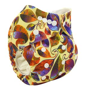 Autumn Leaves Modern Cloth Nappy