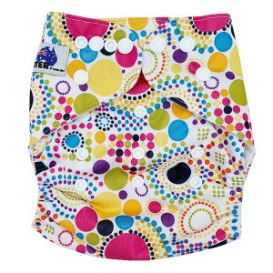 Colourful Spots Cloth Diaper Front