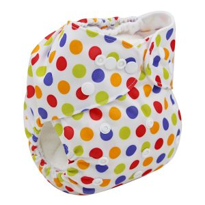 Colourful Spots Modern Cloth Nappy