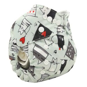 Cool Cats Modern Cloth Nappy