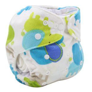 Minky Elephant Modern Cloth Nappy