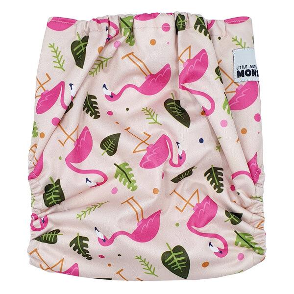 Pink Flamingo Cloth Diaper Back