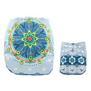 Blue Dream Catcher Modern Cloth Nappy