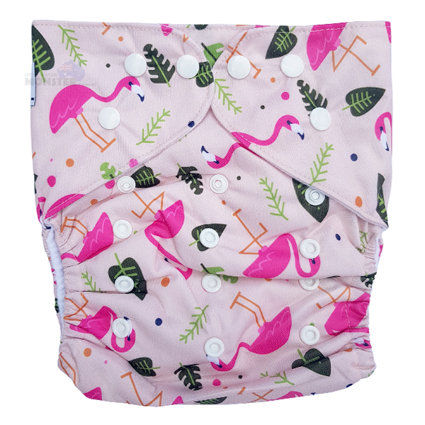 Cute Pink Flamingos INSERT up to 20kg Junior XL Reusable Modern Cloth Nappy