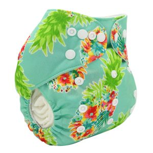 Pineapple Flowers Modern Cloth Nappy
