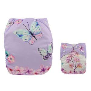 Beautiful Butterflies & Flowers Modern Cloth Nappy