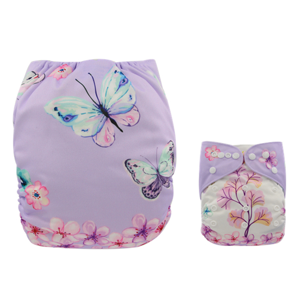Beautiful Butterflies & Flowers Modern Cloth Nappy