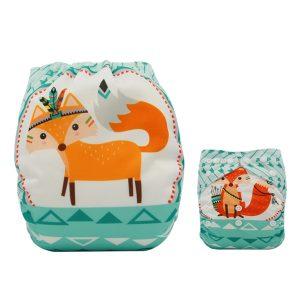 Cute Tribal Fox Modern Cloth Nappy