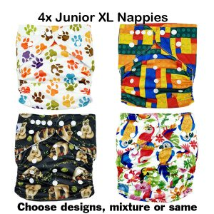 4 Pack Junior Nappies
