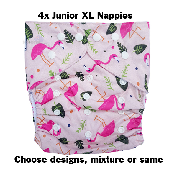 Junior XL Cloth Nappy 4 Trial Pack