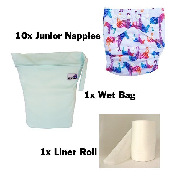 Junior XL Cloth Nappy 10 Pack