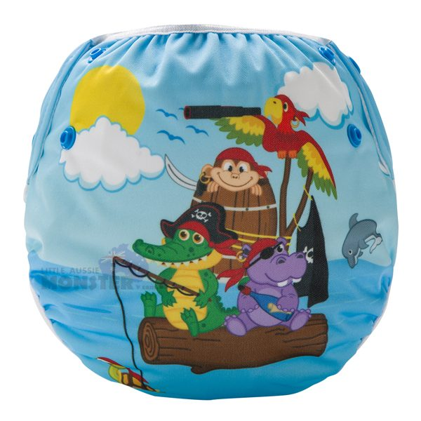 Animal Pirates Reusable Swim Diaper