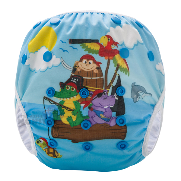 Animal Pirates Reusable Swim Nappy