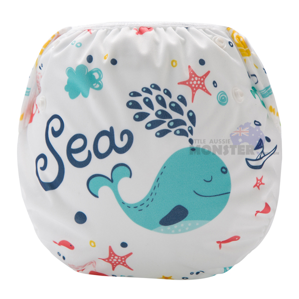 Blue Whale Reusable Swim Diaper