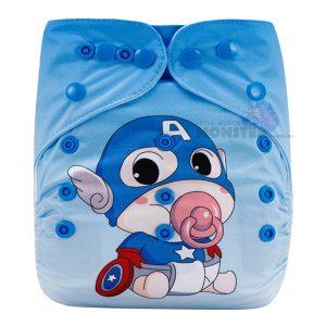 Cute Captain America Modern Cloth Diaper