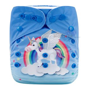 Colorful Unicorn & Stars Modern Cloth Diaper