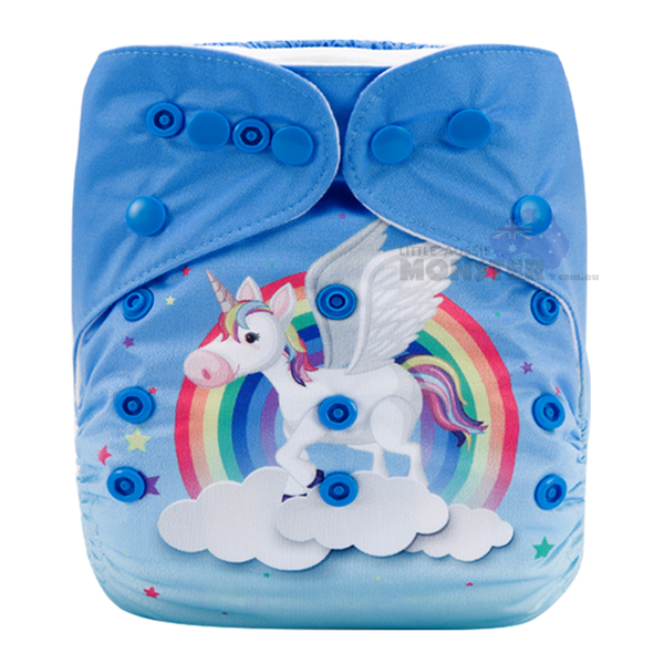 Colorful Unicorn & Stars Modern Cloth Diaper