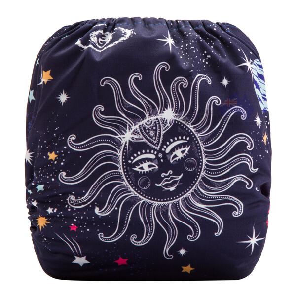Smiling Sun & Galaxy Modern Cloth Diaper