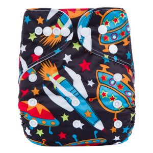 Black Rockets Modern Cloth Nappy
