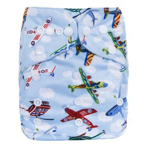 Planes & Clouds Modern Cloth Nappy