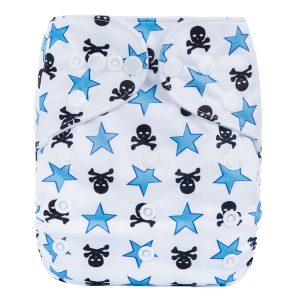 Stars & Skulls Modern Cloth Nappy