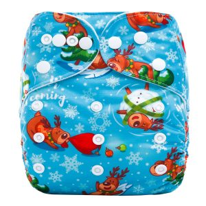 XMAS Deer Cloth Nappy