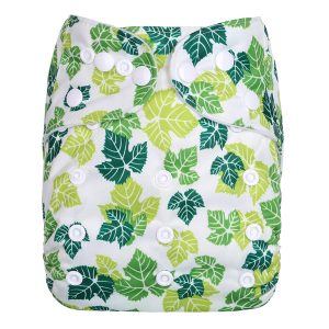 Green Leaves Modern Cloth Nappy