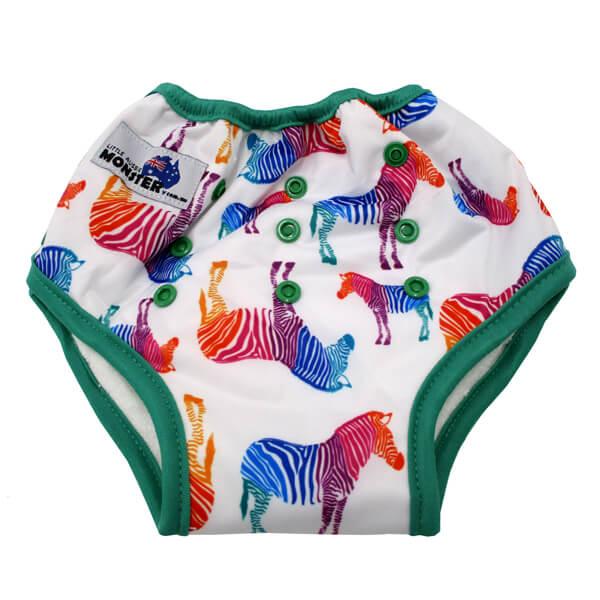 Rainbow Zebra Pull Up Training Nappy