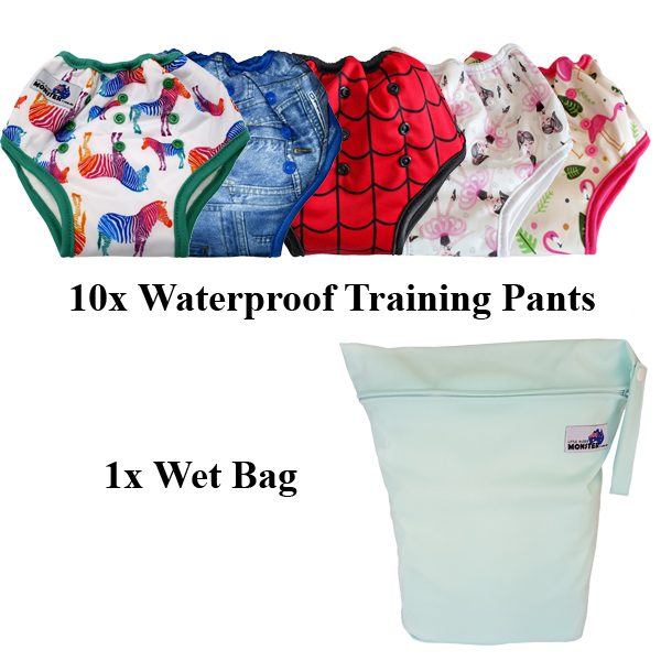 Waterproof Training Pants 10 pack