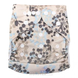 Blue Dandelion Modern Cloth Nappy