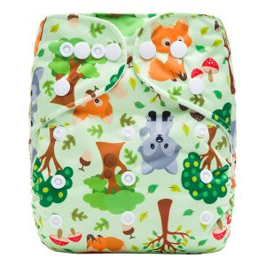 Woodland Animals Modern Cloth Nappy