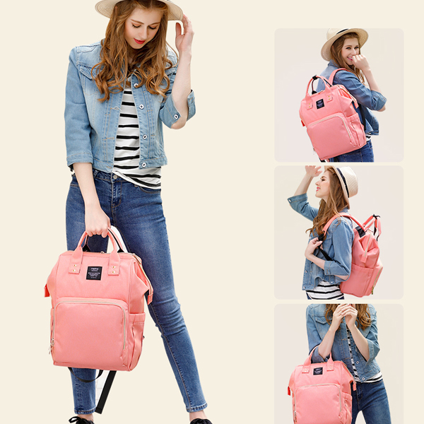 Backpack Coral On Model new